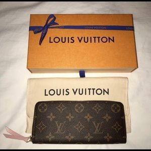 Authentic Louis Vuitton Clemence Wallet Rose